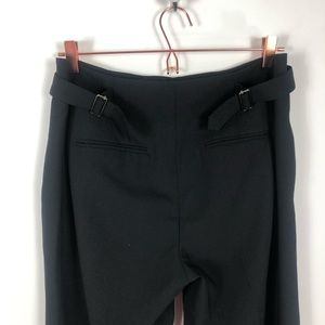 Vince Pants - Vince Black Belted Trousers Size 10 Career Wool